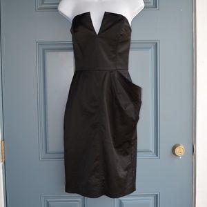 * Black Strapless Formal Cocktail Dress/Bebe Sz 4